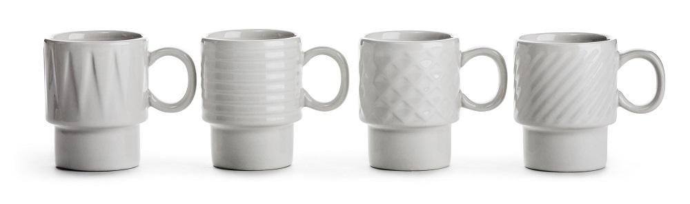 Coffee & More espressomugg 10 cl Vit 4-pack