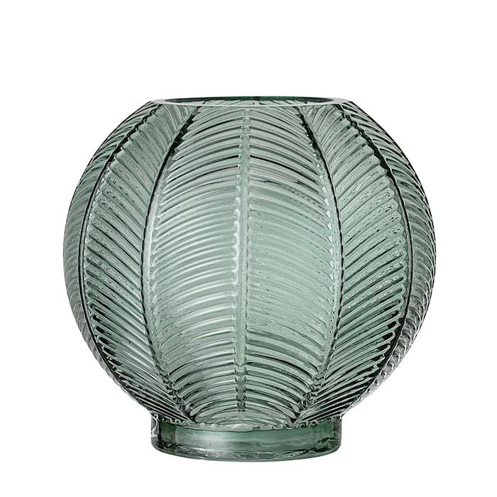 Vas Grön Glas Ø14x15cm