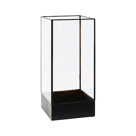 Box Svart / glass rektangulær