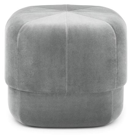 Circus pouf sittepuff velour small - Grey