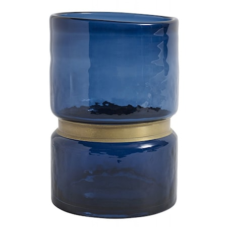 RING Vas Glas Blå L