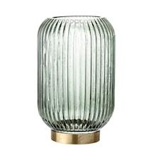 Ljuslykta Green Glass Ø12,5xH20 cm