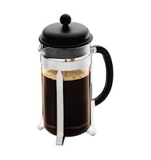 Caffettiera Kaffebryggare 8 koppar Svart