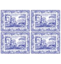 Blue Italian Bordsunderlägg 4-pack
