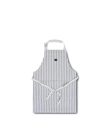 Icons Cotton Herringbone Förkläde Blå/Vit 80x105cm