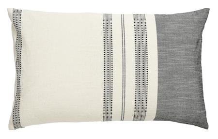 Tyynynpäällinen brodeerauksella 40x65 cm - Valkoinen