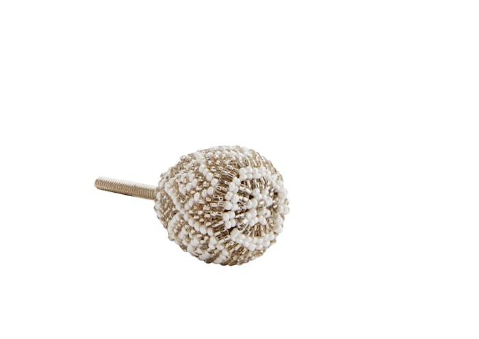 Dörrhandtag Ø 3,5 cm - Vit/silver