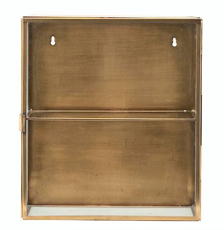 Kabinett 40x35x15 cm Glas/mässing