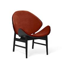 The Orange Lounge Chair Brick Red Svartlackad Ek