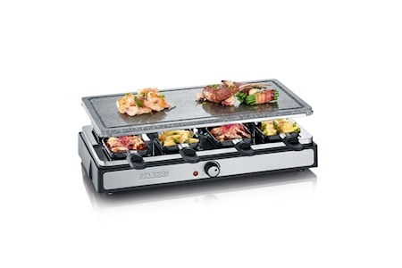 Raclette Grill Hele Natursten, 8 pander