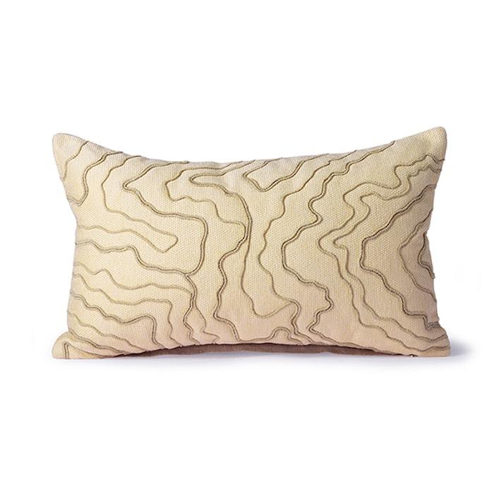 Cream Tyyny stitched lines 30 x 50 cm