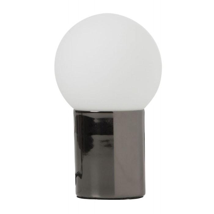 Ludde krom/opal bordslampa