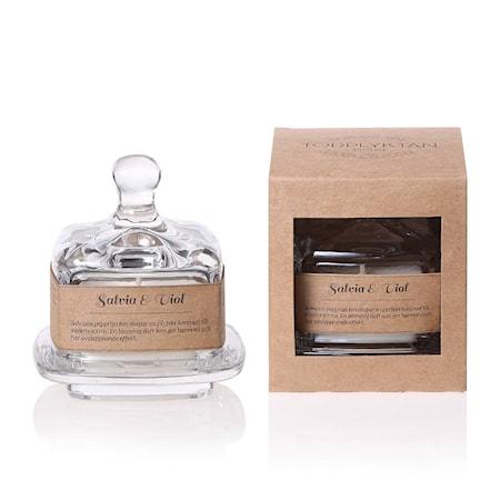 Salvia & Viol – Kryddskafferiet Doftljus