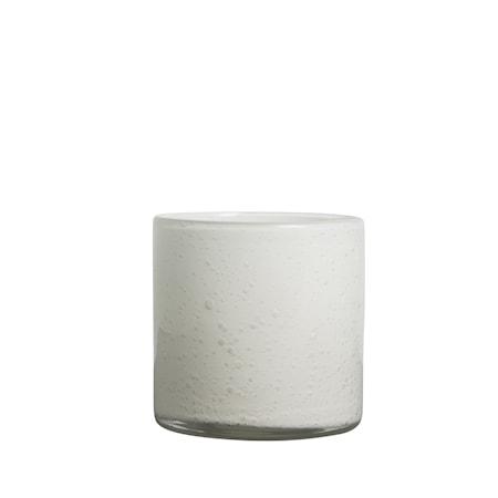 Vase / Lykt Hvit h: 12 cm