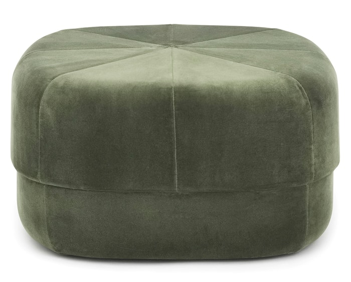 Circus pouf sittpuff velour large - Dark green