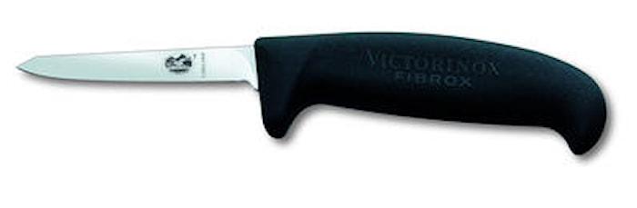 Fågelkniv Medium Fibroxhandtag Svart 8 cm