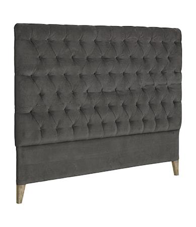 London Sänggavel 180cm Velvet Iron grey