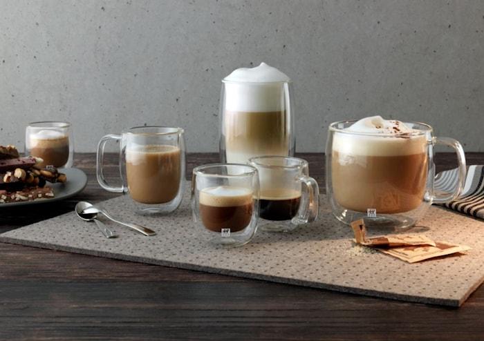 Sorrento Plus Espresso/Kaffekopp Med handtag 134ml 2-pack