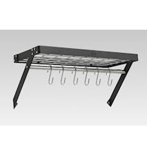 Hahn Premium vägghylla 60x28x4 cm Svart stål