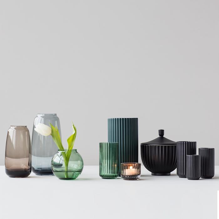 Vase Porselen Svart 15cm
