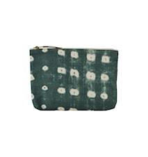 Sminkväska Dots 23x16 cm Grön