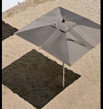 Free rektangel 3x2 Parasoll Grå