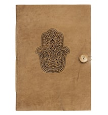 Notebook, Fatima hand, leather, large