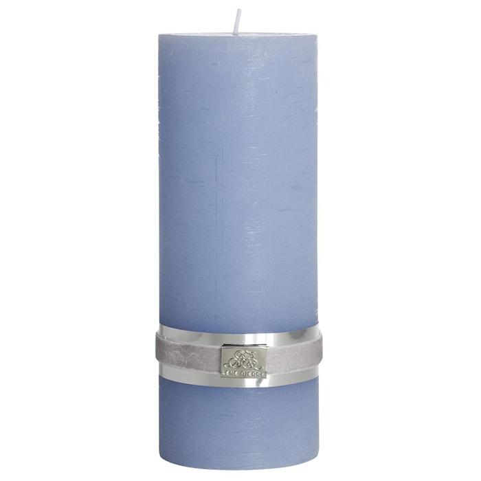 Blockljus Rustic 20 cm Ljusblå