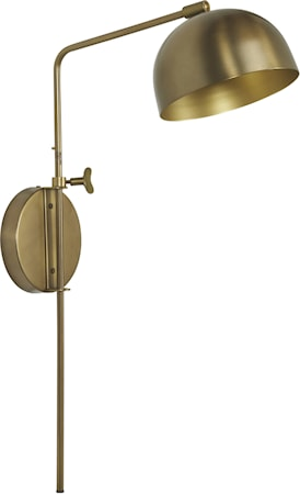 Brighton Vägglampa Mässing 63cm