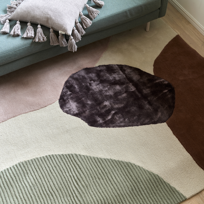 Topaz Teppe Ivory/Green 200x300 cm