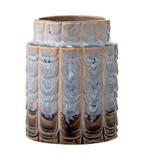 Vase Blau Steingut 10x12,5cm