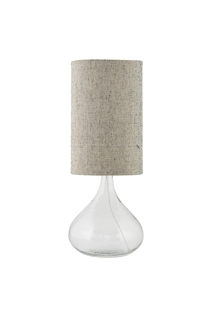 Lampeskjerm Med Ø 24x38 cm - Grå/Brun