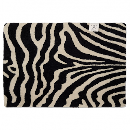 Dörrmatta Zebra Svart/Vit 60x90 cm