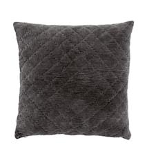 Kuddfodral Quilt 50x50 cm Mörkgrå