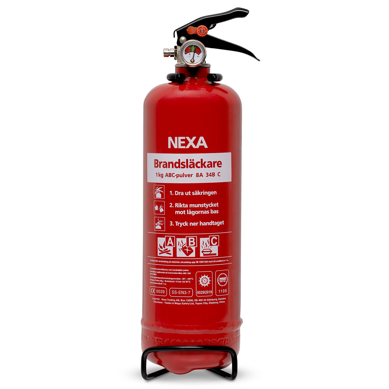 Brandsläckare Röd 1kg 8A