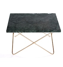 Xsmall table - green, brass frame