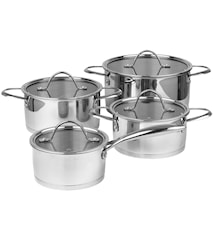 Mosel Pot Set with Glass Lid 8 pieces