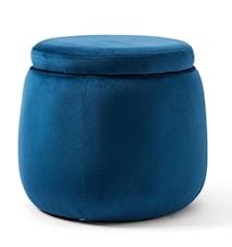 Förvaringspuff blå