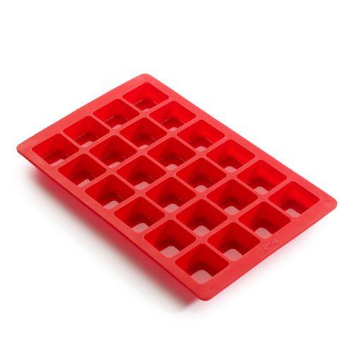Bakform Mini Brownie x24 Silikon Röd