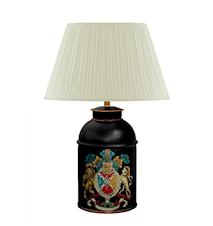 Lampa Handmålad Plåt med Vapensköld 26cm
