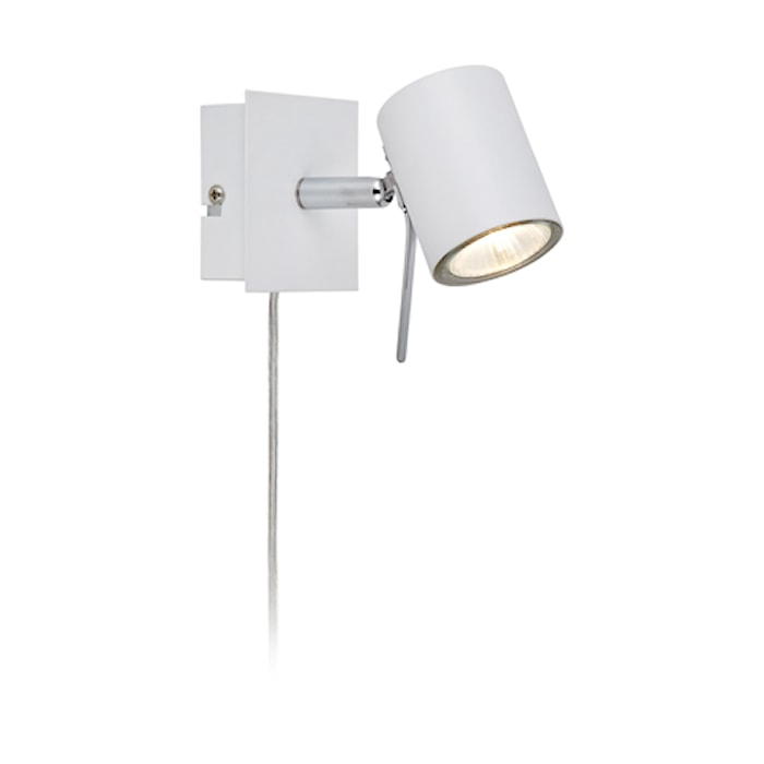 Hyssna Lámpara de pared LED Blanco