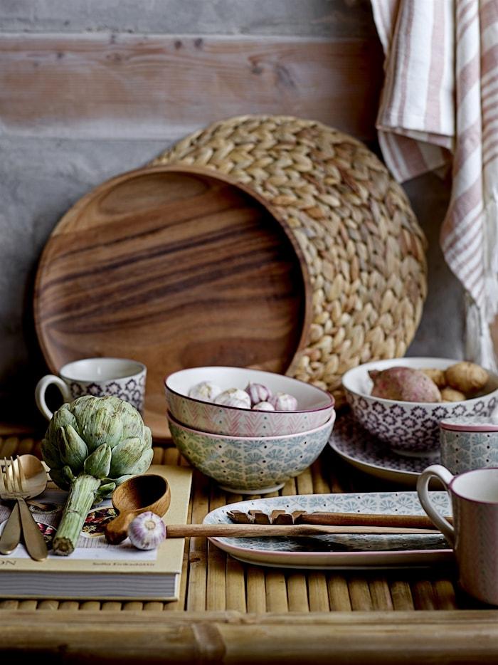 Maya Serving Plate, Purple, Stoneware
