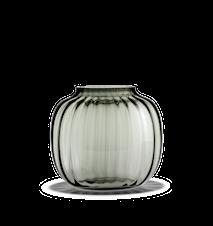 Primula Oval Vase Smoke H 17,5 cm
