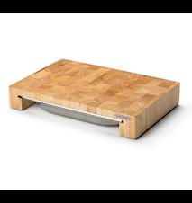 Leikkuulauta ja laatikko kumipuuta 39x27x6 cm