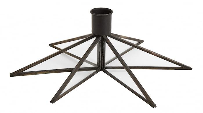 Candle holder, star, large, black