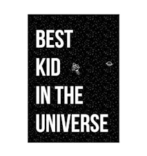 Poster Best kid 70x50 cm - Sort