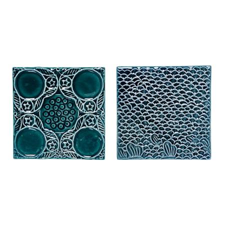 Dekorations Platta Grön/Blå