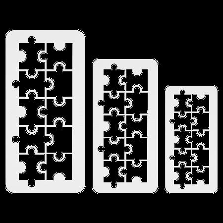 Geometrisk Multiskärare Pussel 3 st