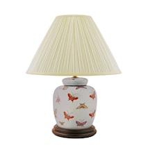 Lampfot 17,5cm Fjärilar på ljusblå botten