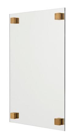 Kvadratisk spejl 60x40 cm - Messing